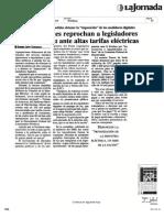 Organizaciones Reprochan Altas Tarifas Elctricas