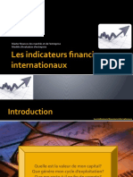 les indicateurs financiers internationaux