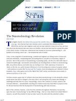 The Nanotechnology Revolution - The New Atlantis
