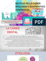 CARACTERISTICAS DE LA CARIES DENTAL, CLASIFICACION Y DIAGNOSTICO DIFERENCIAL.