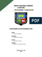 CUESTIONARIO DE REFORZAMIENTO #01 - DIRECCIÓN ESTRATÉGICA II