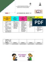 CRONOGRAMAS  DE LA PRIMERA SEMANA DE OCTUBRE DEL 5 AL 9