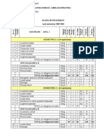 Plan de invatamant Romana 2009-2012