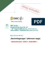 Moderation Script (08/2006)