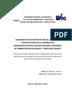 LINEAMIENTOS ARCHIVÍSTICOS PARA EL ARCHIVO DE CONTRATACIONES DE LA GERENCIA DE INFRAESTRUCTURA DEL SENIAT - Melanie Garcí~1.pdf