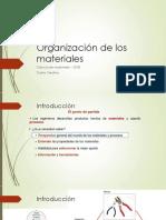 2 Organización de los materiales