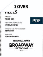 Head Over Heels Piano-Vocal Score