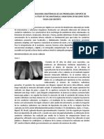 ESTUDIO DE LAS VARIACIONES ANATÓMICAS DE LOS PREMOLARES