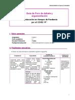 GUIA FORO DE DEBATE Y ARGUMENTACION - FD