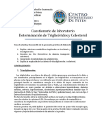 Cuestionario Determinación de Triglicéridos y Colesterol (1)