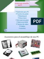 componentes para el ensamblaje de una pc