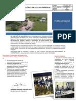Politica de gestión Integral  2018