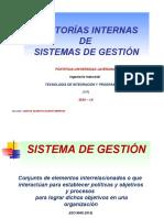 AUDITORÍAS INTERNAS DE SG