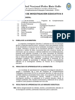 SILABO INVESTIGACION EDUCATIVA 2 -  PCPU