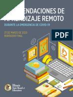 RECOMENDACIONES DE APRENDIZAJE REMOTO