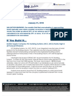 Builder Supply Company NCI Building Systems (NCS, $NCS) Ranks High in all Forecast Windows