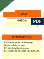 Historia Universal Antigua. GRECIA. TEMA 3