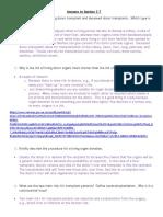 Answers to Section 3.7 Organ Transplantation