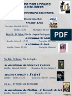 Ciclo de Cinema Semana das Línguas