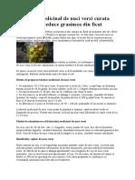 Lichiorul medicinal de nuci verzi curata stomacul si reduce grasimea din ficat.docx