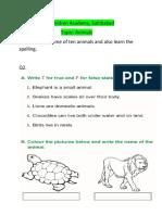 Animals class 1(22-9-20)