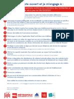 Charte Protocole Sanitaire Renforcé Dans Les Restaurants de Lille