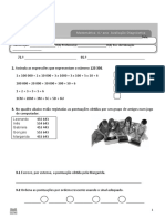Ficha de Avaliação Diagnóstica - Matemática (word)