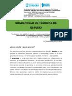 CUADERNILLO TECNICAS DE ESTUDIO