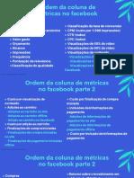 8 - Ordem da coluna de métricas no facebook