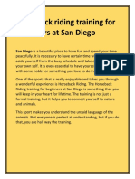Horseback Riding Training for Beginners at San Diego