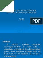 NEVOIA DE A ACTIONA CONFORM PROPRIILOR VALORI +PI