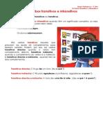 Ficha Informativa - Verbo transitivo e intransitivo