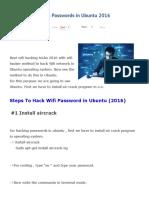 How To Hack Wifi Passwords in Ubuntu 2016 - TekGyd » Best Tech Tips & Tricks, How-To Tutorials