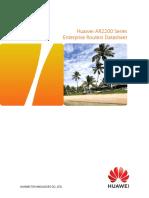 Huawei AR2200 Series Enterprise Routers Data Sheet