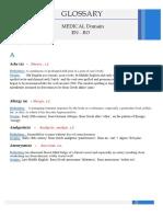 Medical Glossary