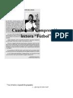 Cuadernillo Comprensión lectora futbol
