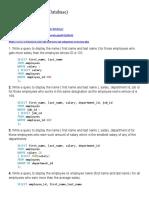 SQL Exercises(HR Database)(SUBQUERIES)