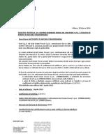 RETTIFICA DI COVERED WARRANT EMESSI DA UNICREDIT S.P.A. 0263-99-2016