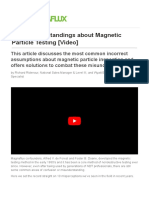 10 Misunderstandings about Magnetic Particle Testing [Video]