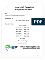 IMPACT OF COVID 19 ON OPERATONS OF BANKS.docx