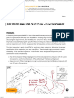 Pipe Stress Analysis Case Study - Pump Discharge _ Piping Technology & Products, Inc