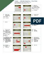 2020 2021 school calendar revised 1 oct 2020