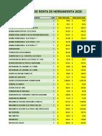 Tabulador de precios unitarios de renta de equipo 2020.pdf