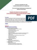 Temario Diplomado LCE aplicado a Obras Publicas