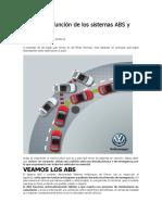 Cuál es la función de los sistemas ABS y EBD