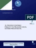 El Proceso Contable Público y su relacion con el sistema Presupuestal
