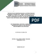 estudio Informe diseño pavimento para vias.pdf
