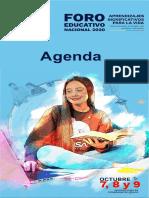 Agenda del Foro Educativo Nacional 2020