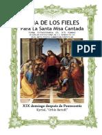 XIX Domingo Después de Pentecostes Orbis Factor