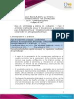 Guia de actividades y Rúbrica de evaluación - Fase 2- Construcción de experiencias para comprender los principios del currículo
